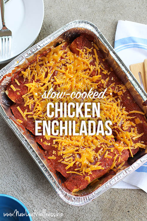 Slow-Cooked Chicken Enchiladas