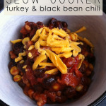 Slow cooker turkey black bean chili