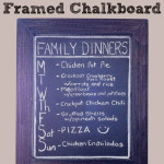 DIY framed chalkboard dinner menu