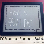 DIY framed speech bubbles