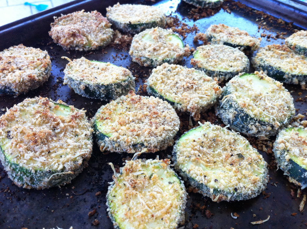 Breaded and Baked Zucchini - cooked