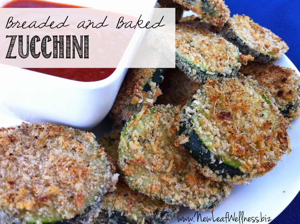 Breaded and Baked Zucchini from @kellymcnelis