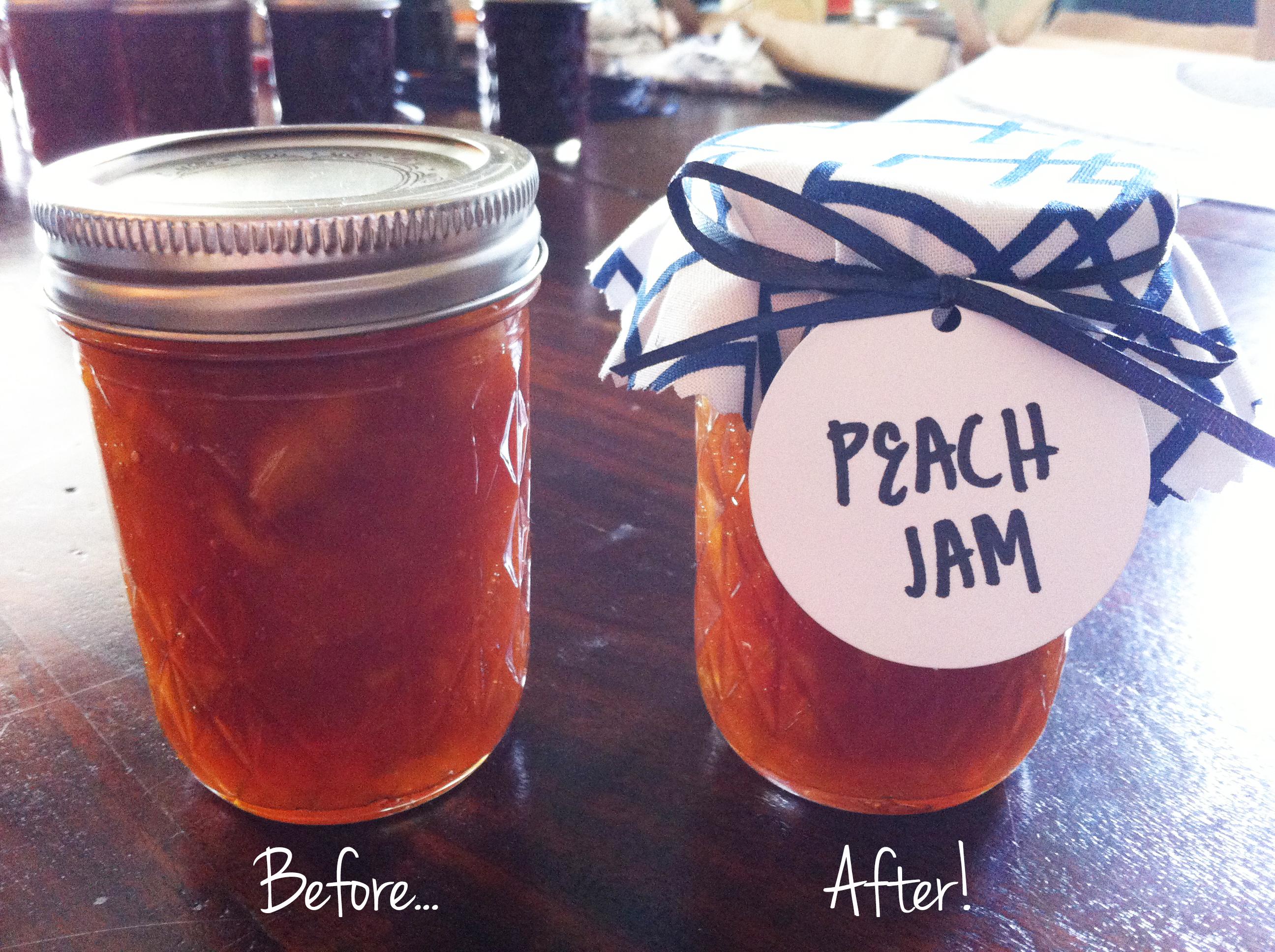 DIY Fabric Jar Covers