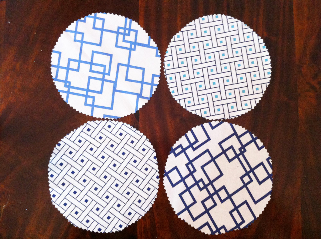 DIY fabric jar covers - cut circles 4