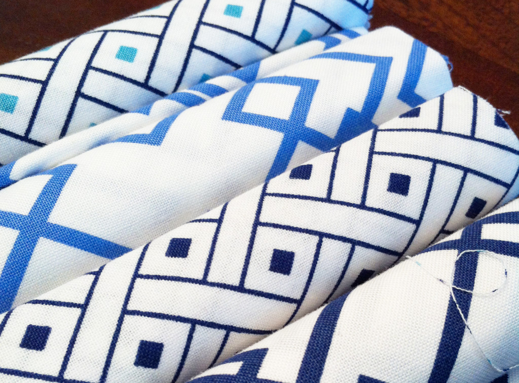DIY fabric jar covers - fat quarters