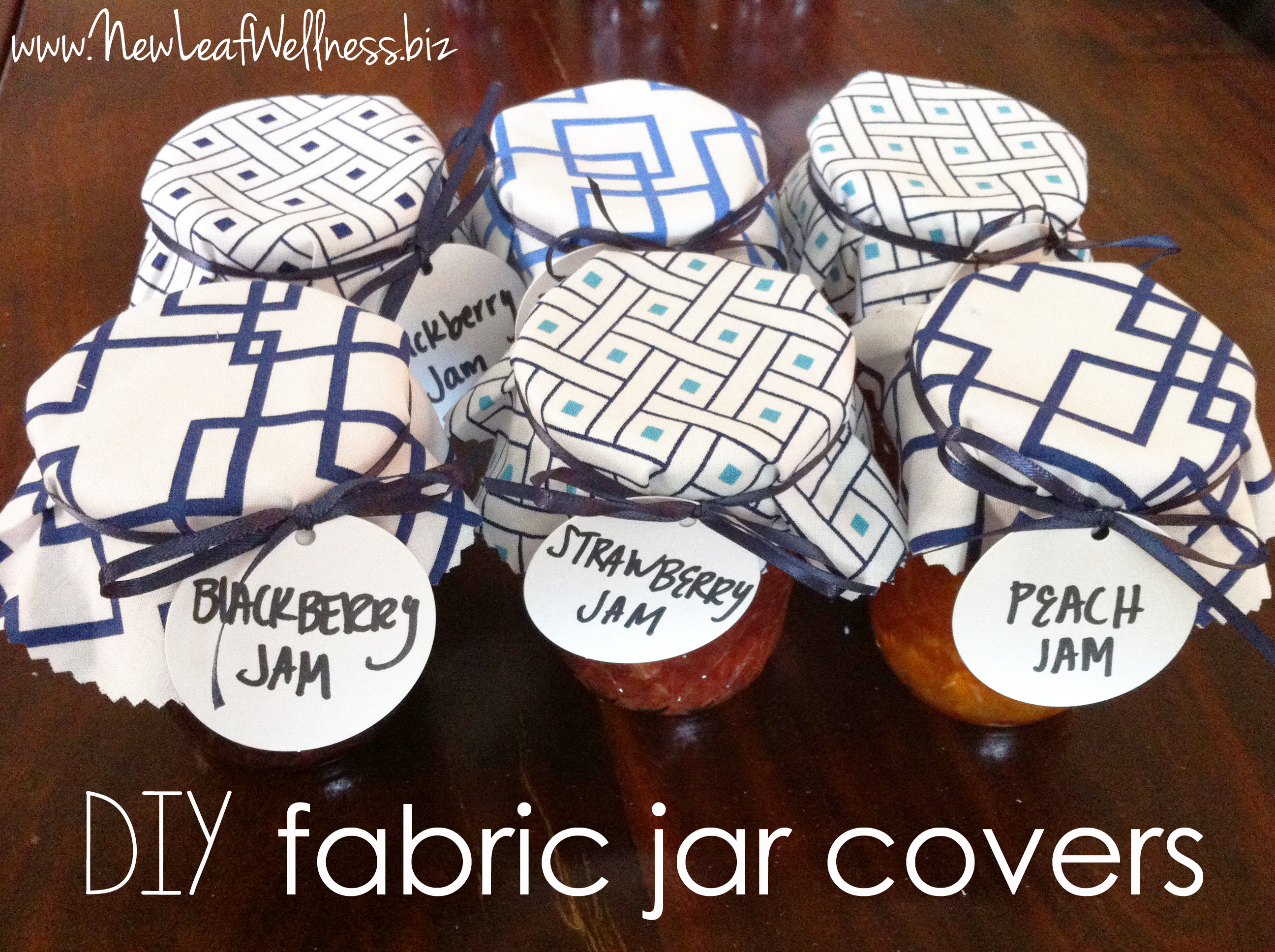 Fabric Jar Covers Diy New Leaf Wellness