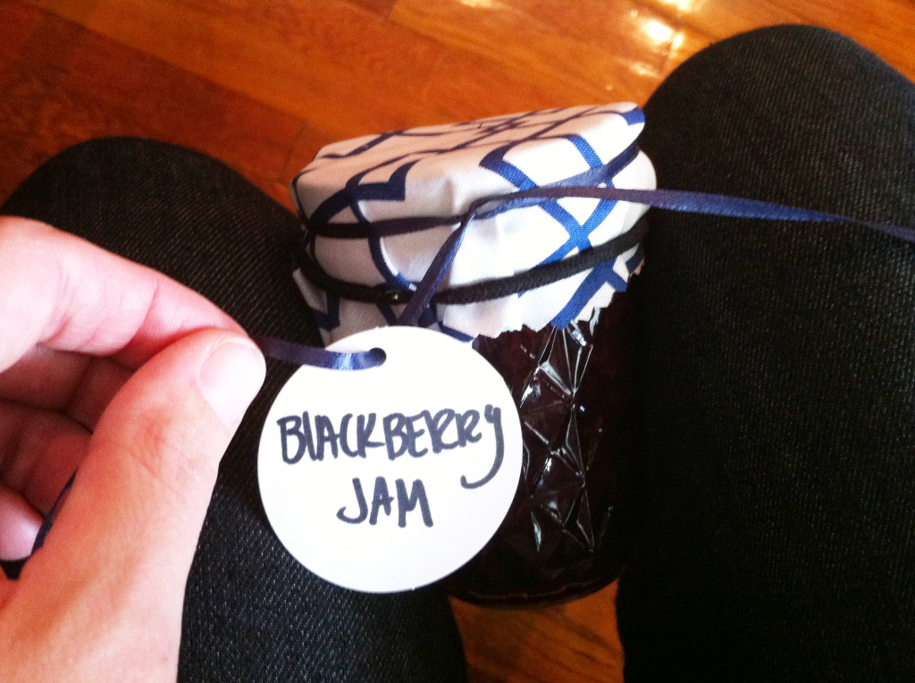 DIY fabric jar covers - tie and tag