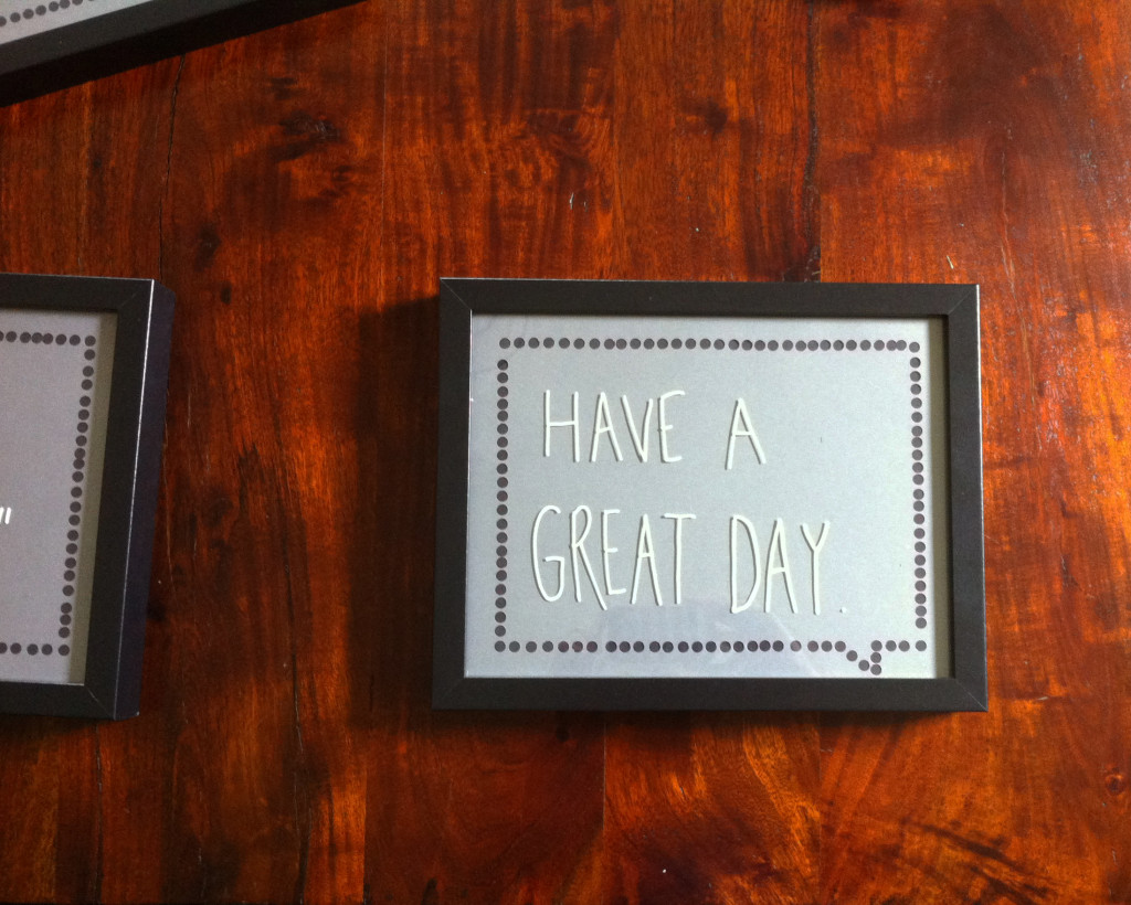 DIY framed speech bubbles finished