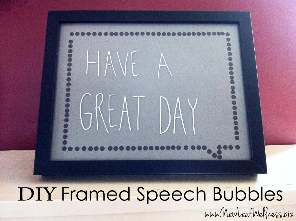 DIY framed speech bubbles from @kellymcnelis