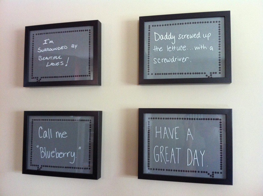 DIY framed speech bubbles x4