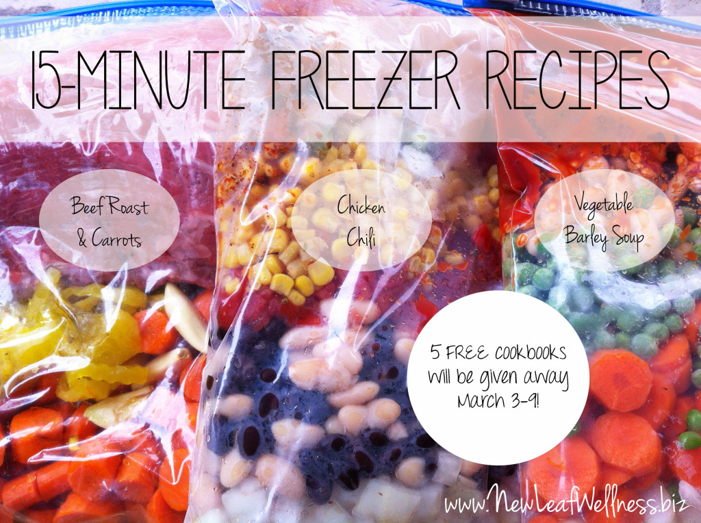 Healthy freezer meal cookbook giveaway from @kellymcnelis