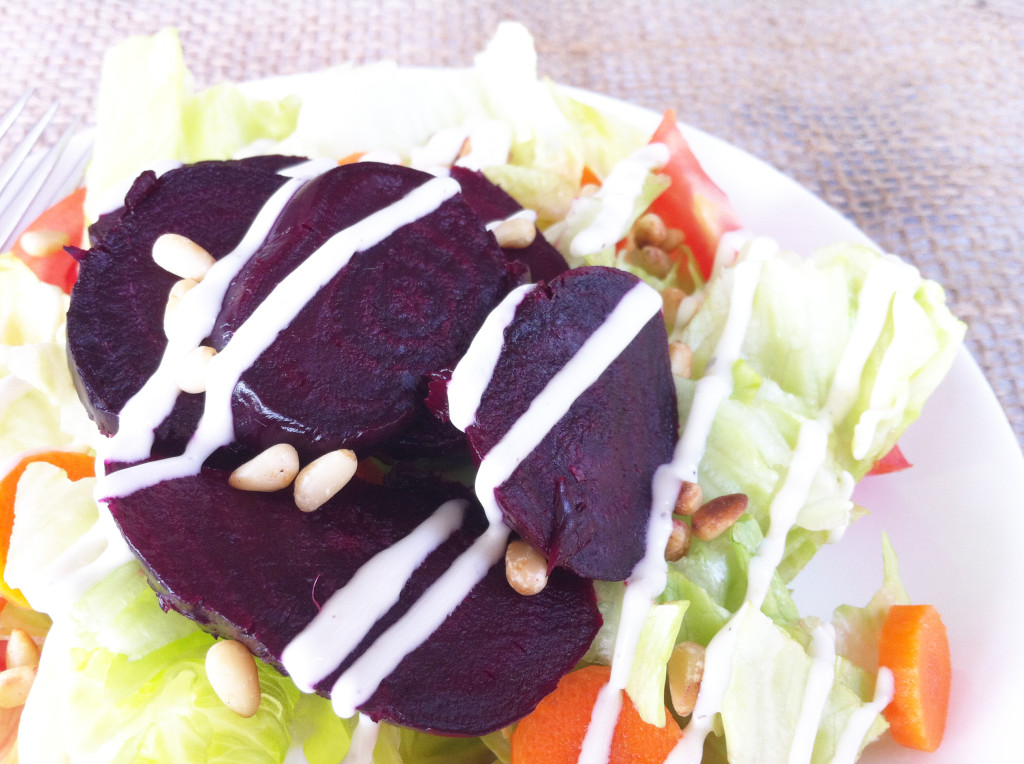 Recipe for roasted beets - salad dressing