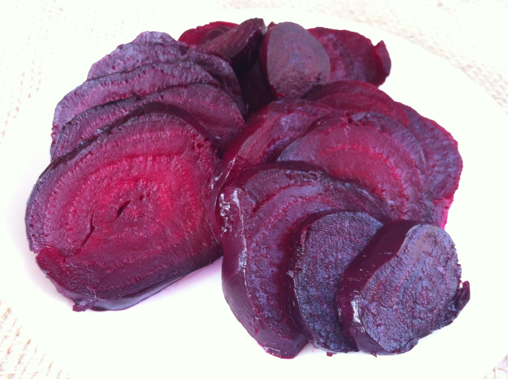 Recipe for roasted beets - sliced