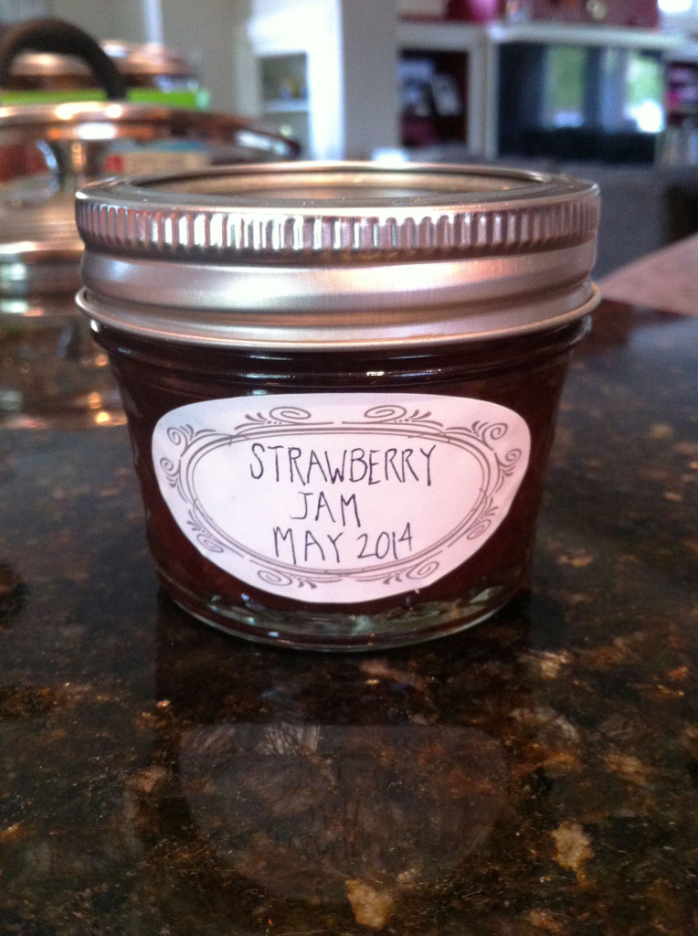canning labeled jar