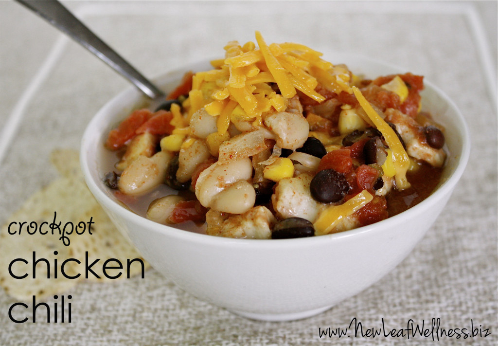 five chicken crockpot recipes - chicken chili