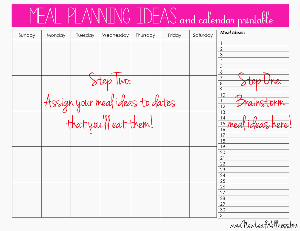 Printable Meal Planner Calendar : Meal plan for two weeks and only grocery shop once new