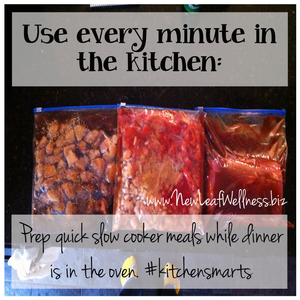 time saving kitchen tips prep slow cooker meals
