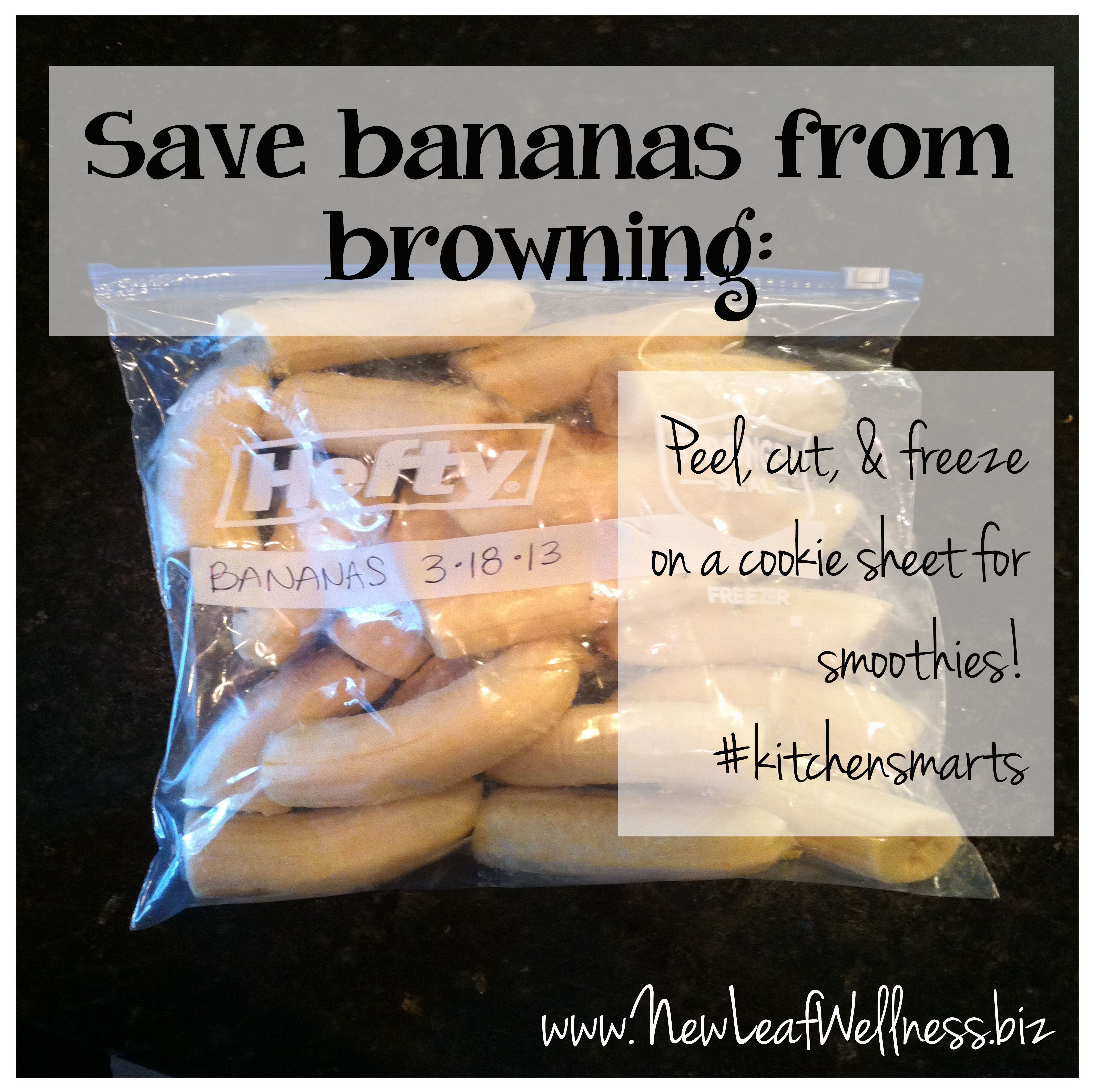 Time Saving Kitchen Tips Save Bananas From Browning