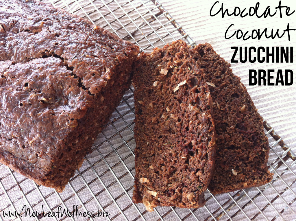 Chocolate Coconut Zucchini Bread Recipe