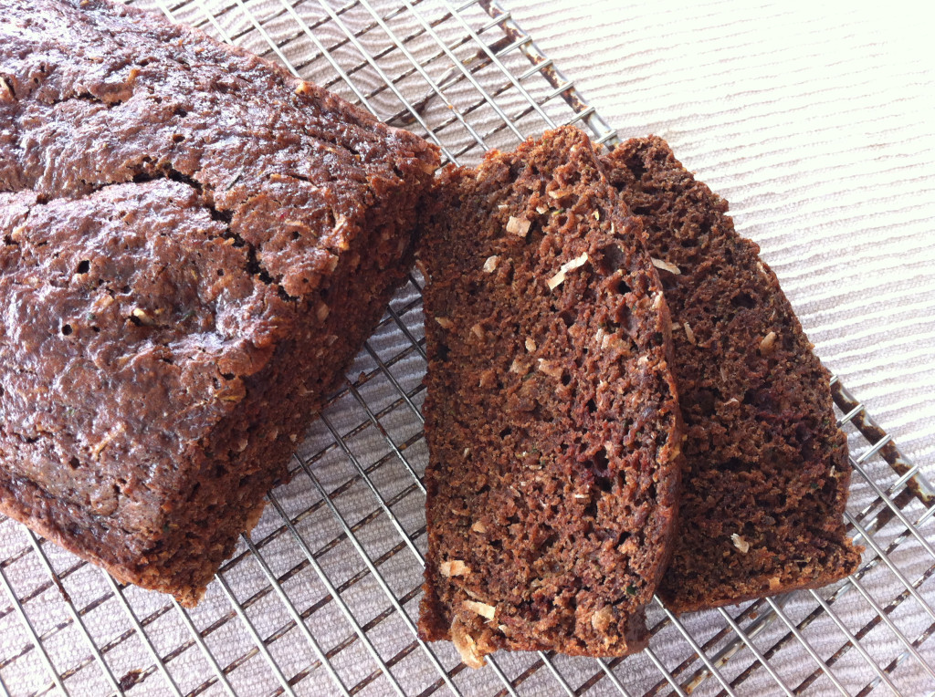 Chocolate Coconut Zucchini Bread Recipe from @kellymcnelis