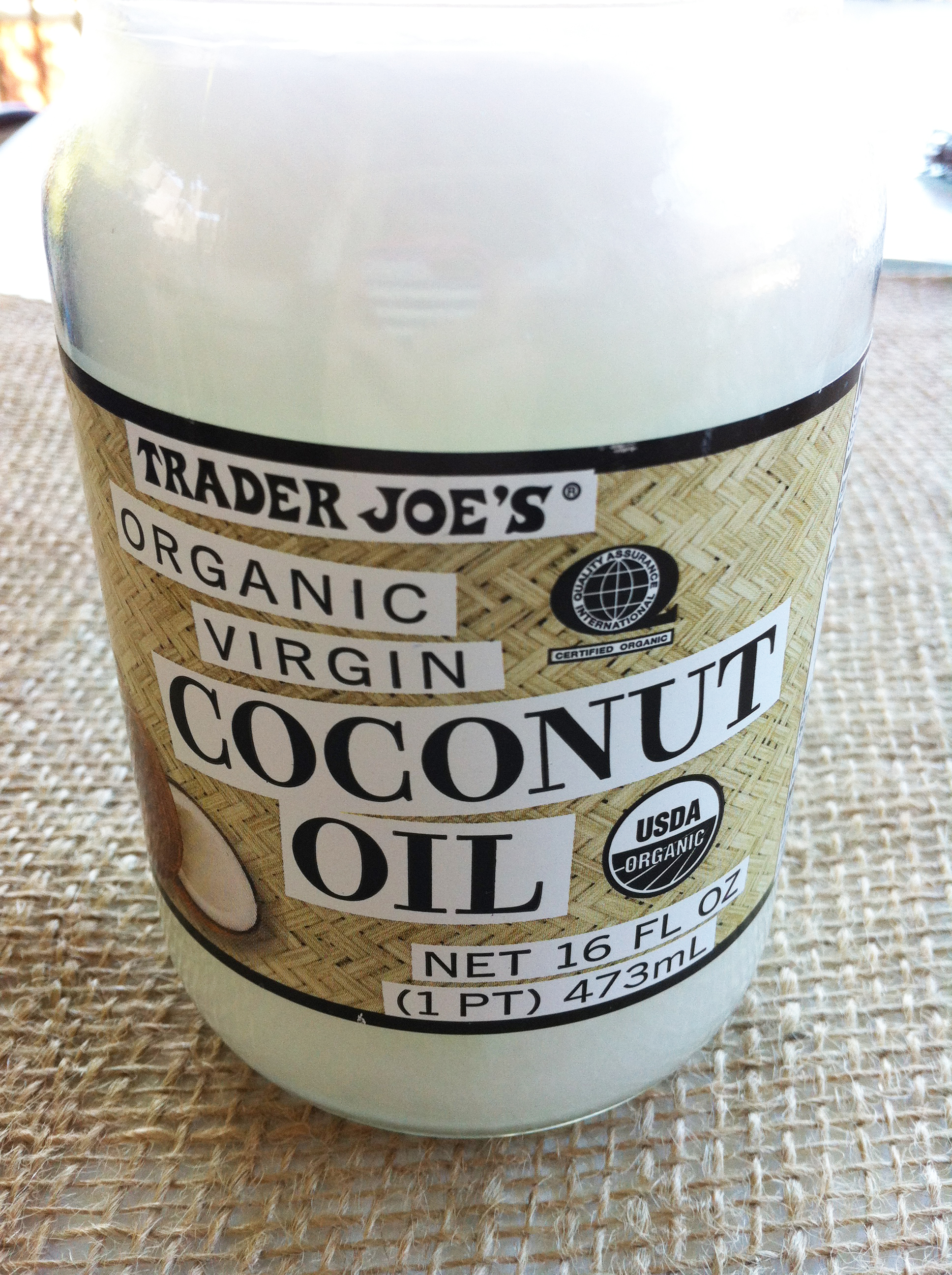 Lotion with coconut oil
