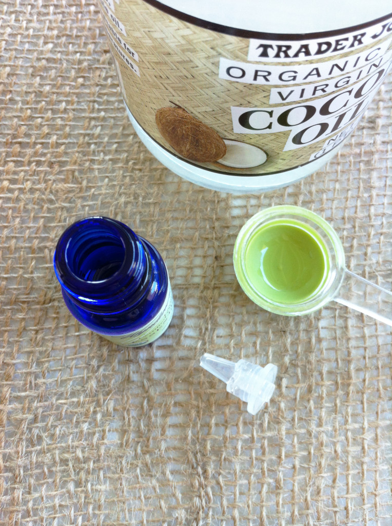 Homemade Coconut Oil Lotion Recipe - dropper