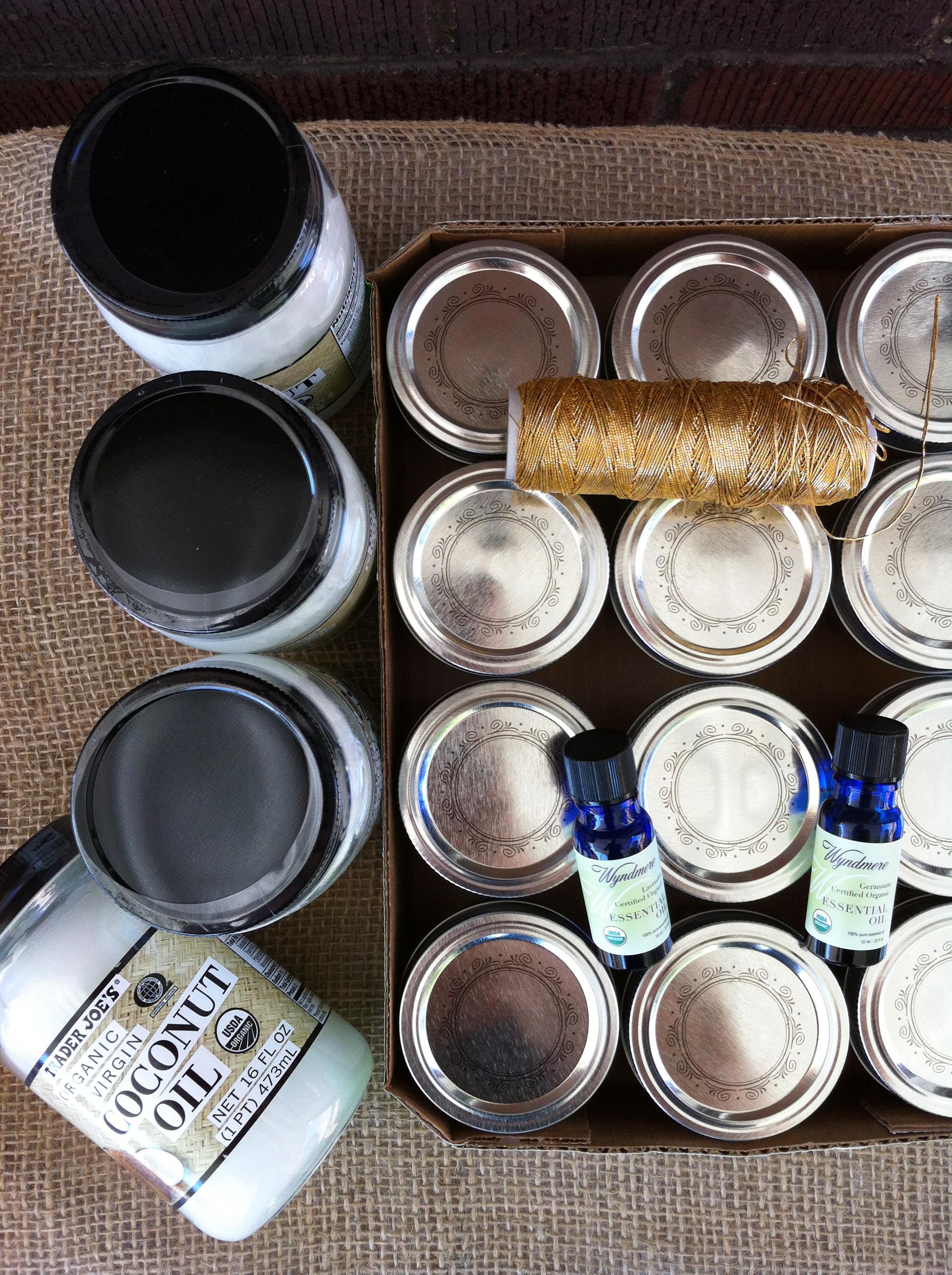Homemade Coconut Oil Lotion Recipe - materials