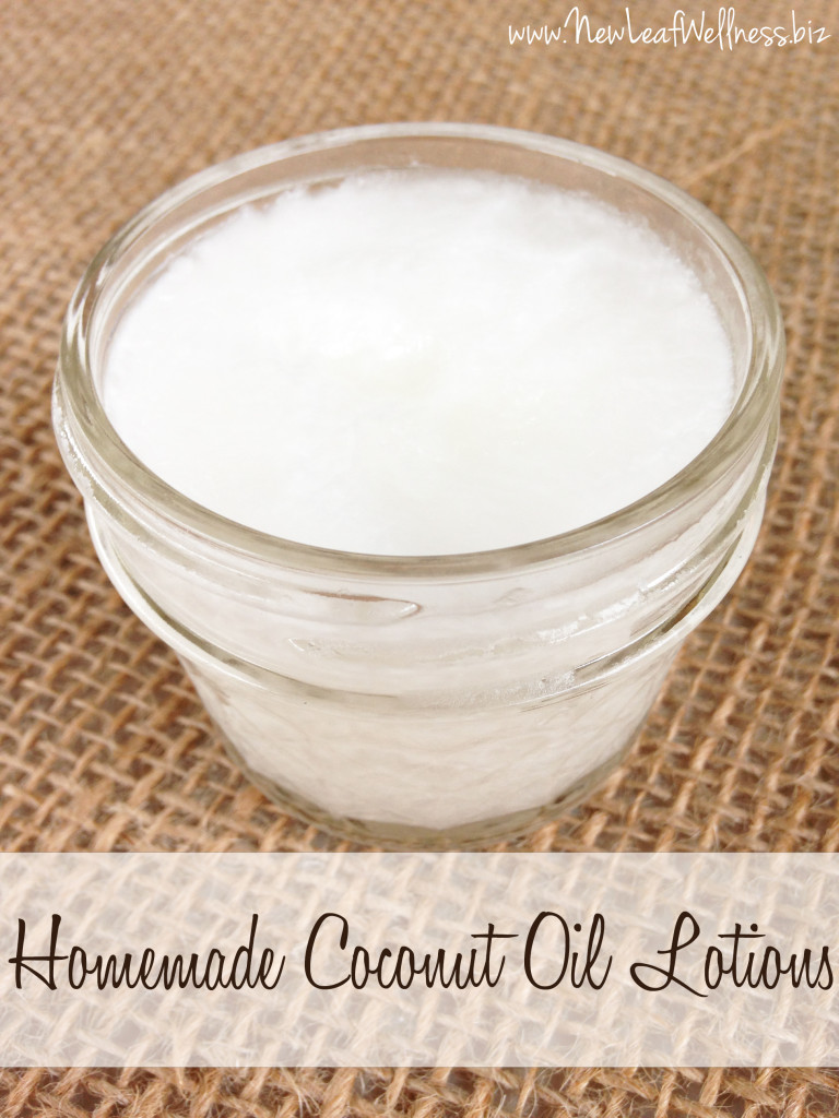 Homemade Coconut Oil Lotions
