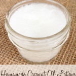 Homemade coconut oil lotion recipe