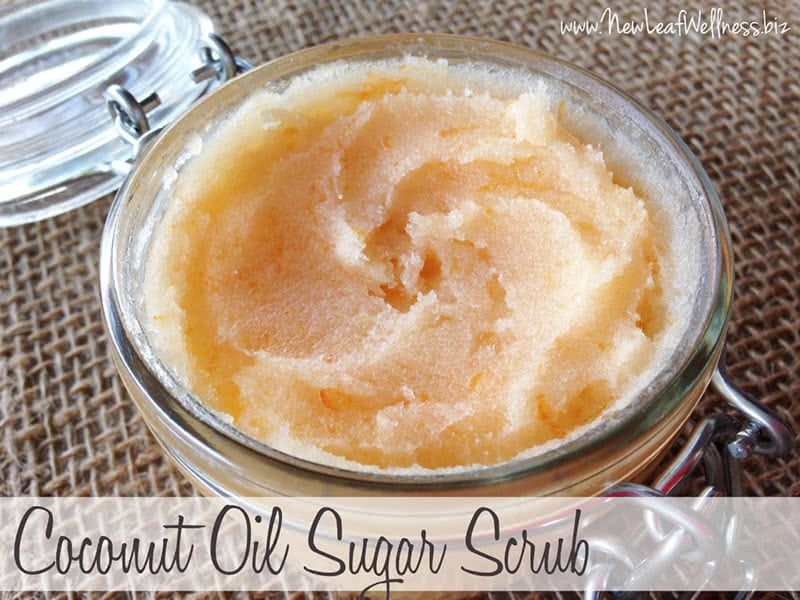 Homemade Coconut Oil Sugar Scrub