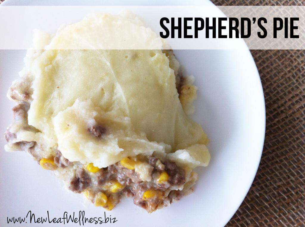 ... shepherd's pie with lamb, I make my shepherd's pie with ground