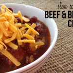 Slow cooker beef and beer chili