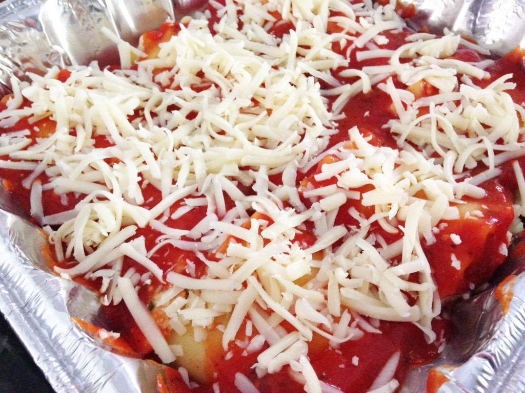 Freezer friendly lasagna roll recipe prepared