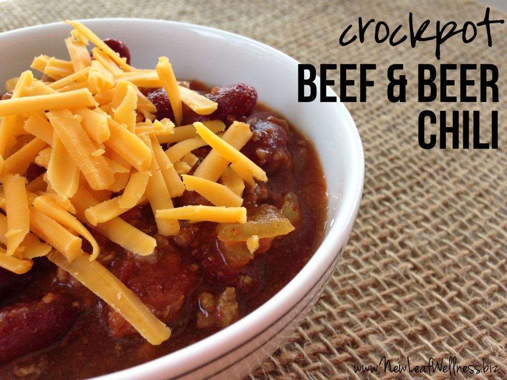 Crockpot Chili Recipes - Beef and Beer Chili