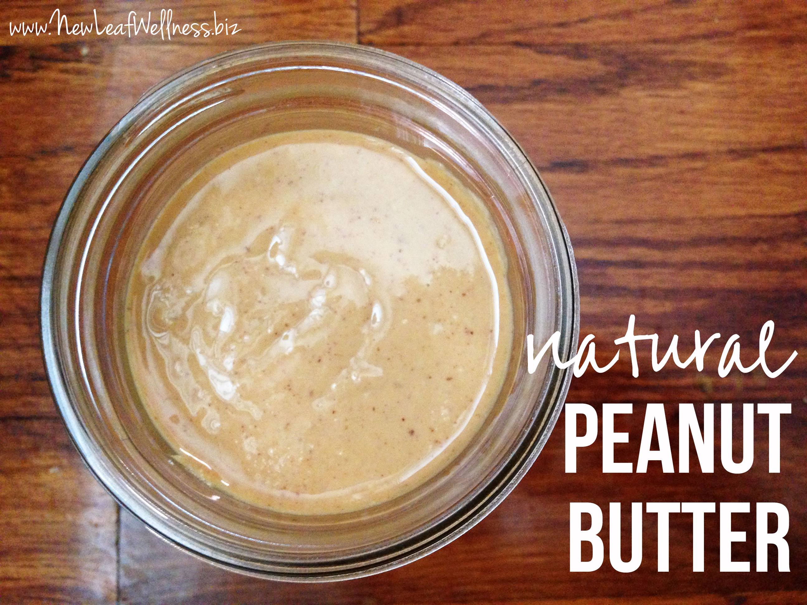 Homemade Natural Peanut Butter Recipe