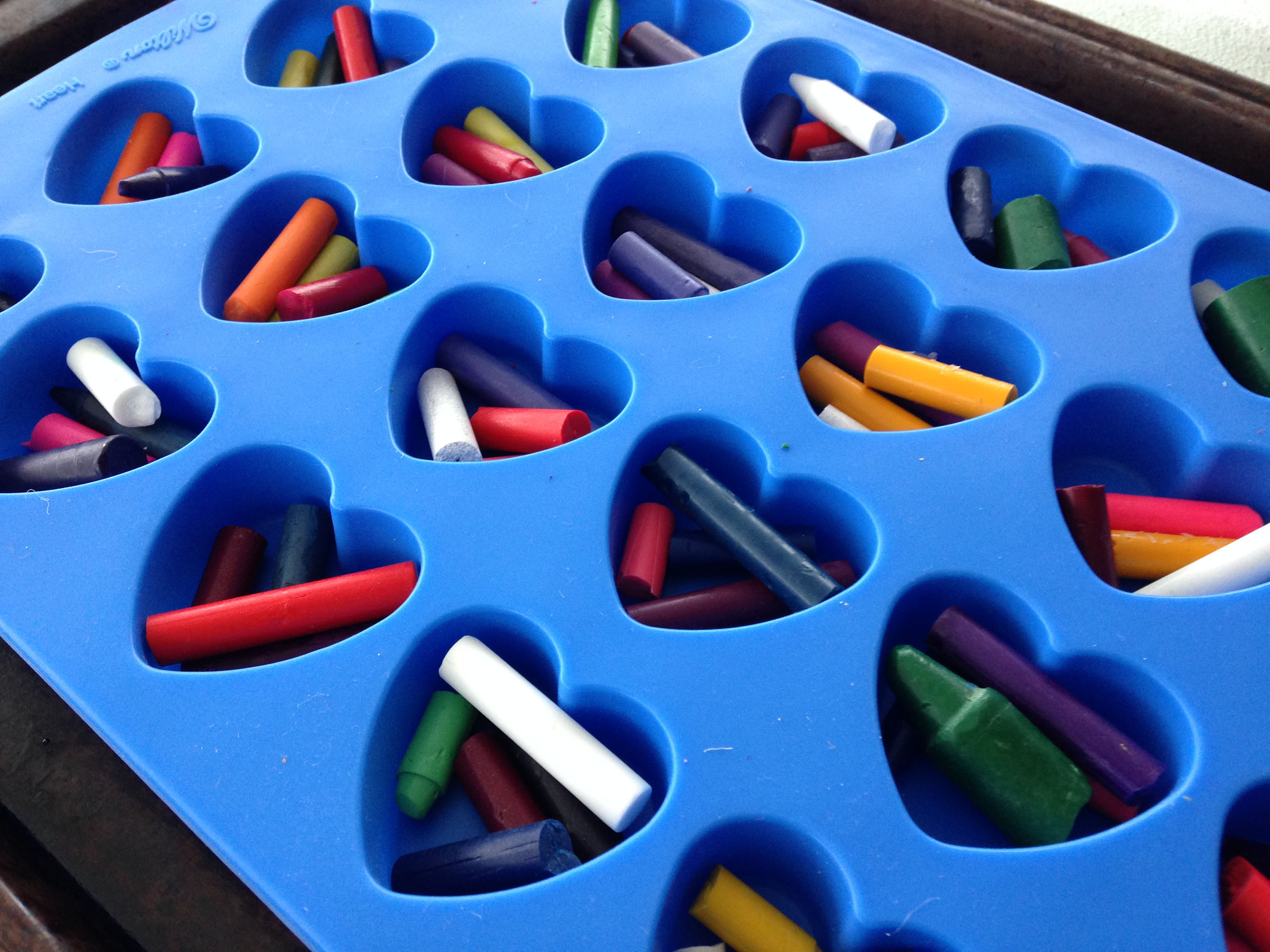 How to Make Recycled Heart Crayons