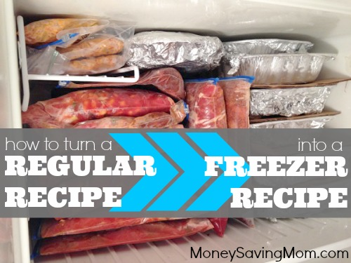 How to turn a regular recipe into a freezer recipe