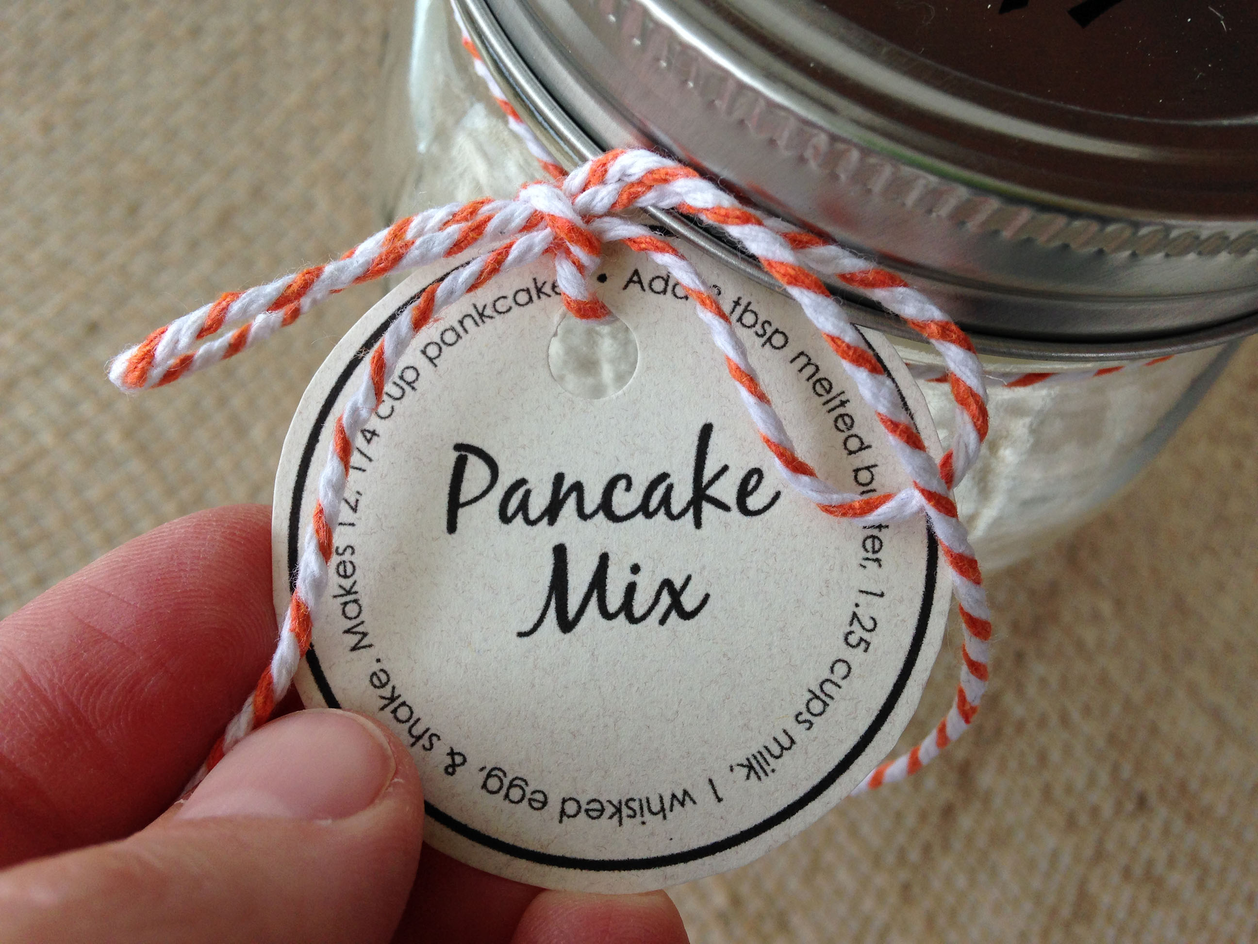 Pancake Mix in a Jar with Free Printable