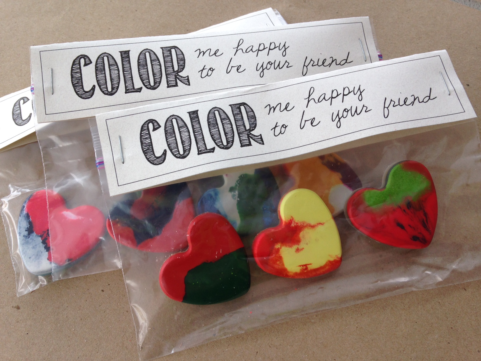 Recycled Heart Crayons for Valentine's Day