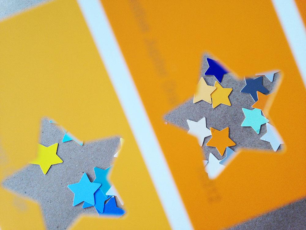 DIY confetti stars