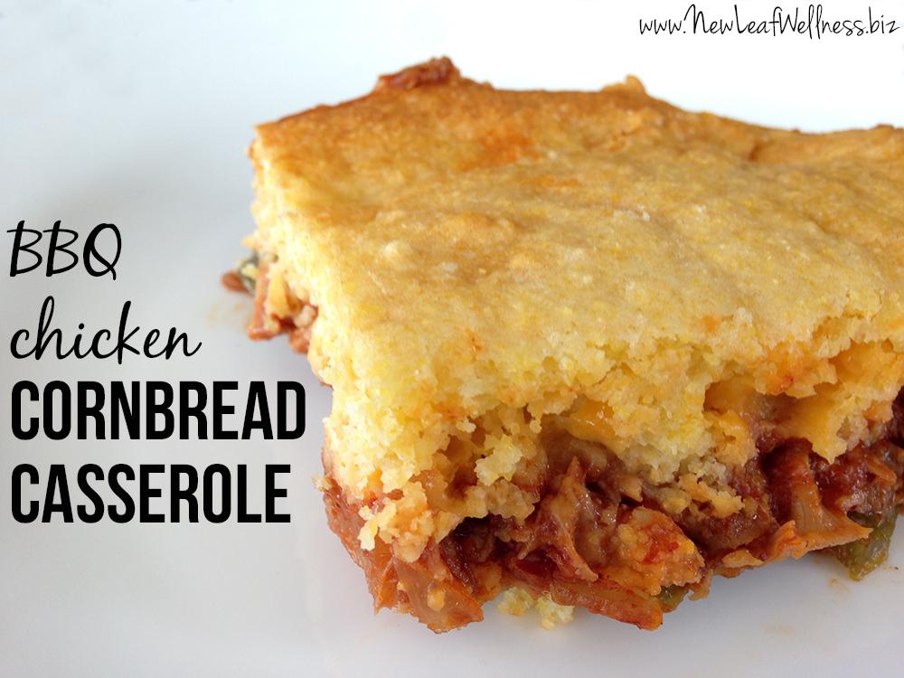 BBQ Chicken Cornbread Casserole