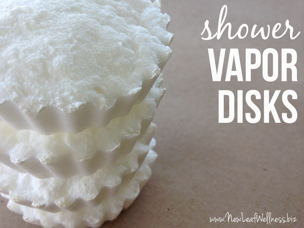DIY Shower Vapor Disks