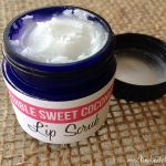 Edible sweet coconut lip scrub