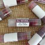 Homemade naturally tinted lip balm