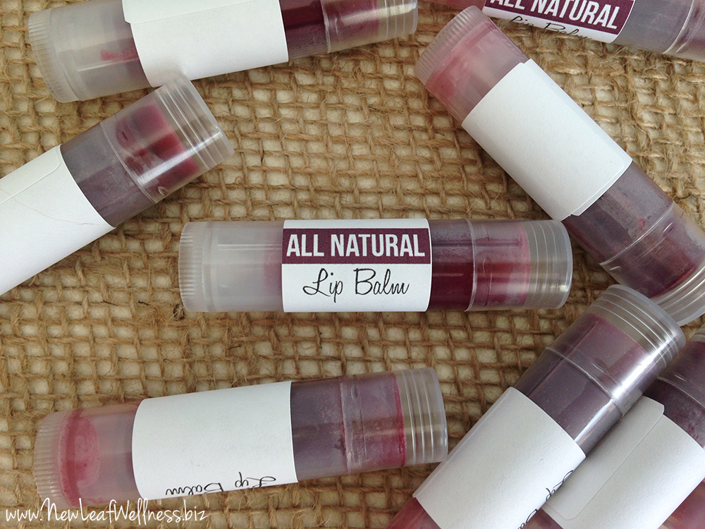 Homemade Naturally Tinted Lip Balm
