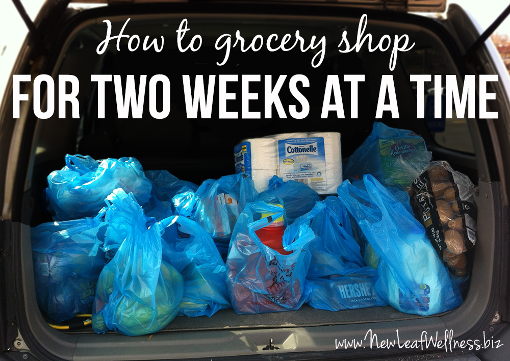 How to meal plan and grocery shop for two weeks at a time