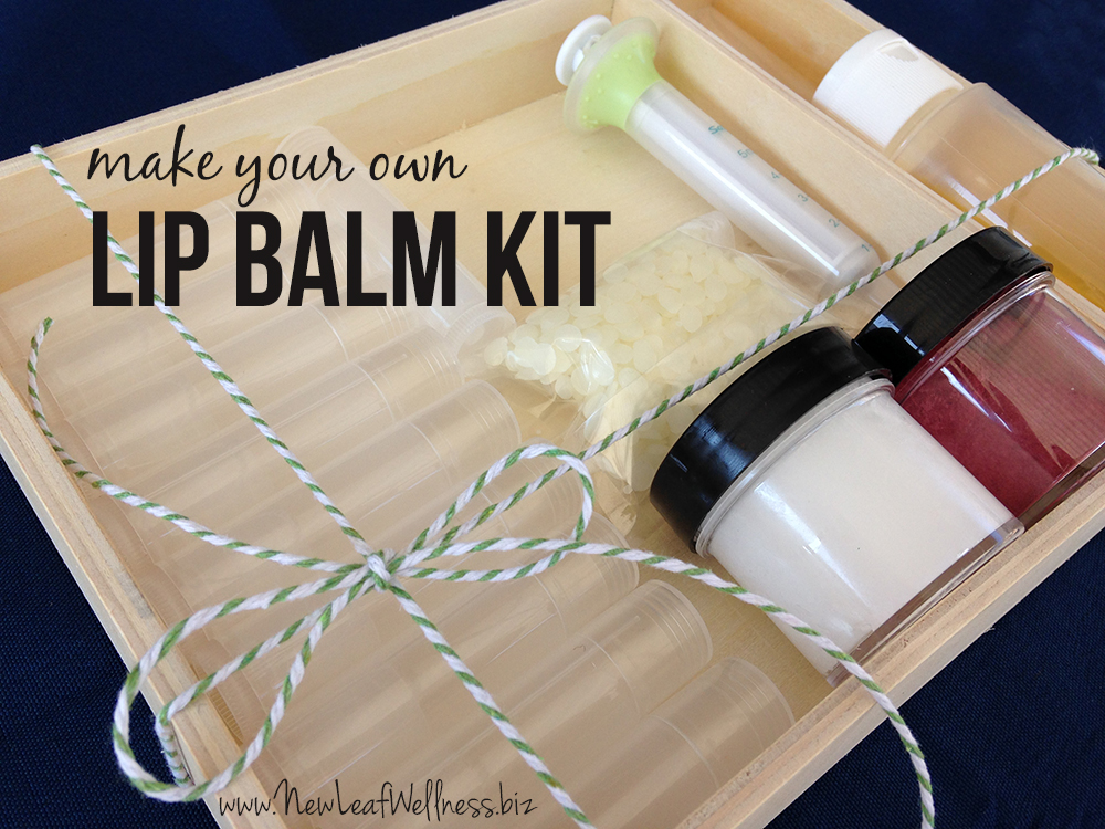 Make your own tinted lip balm kit giveaway