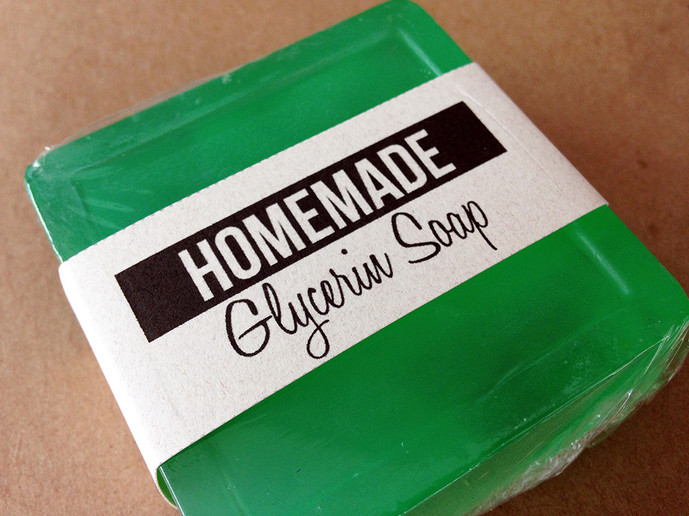 Homemade Glycerin Soap with free printable