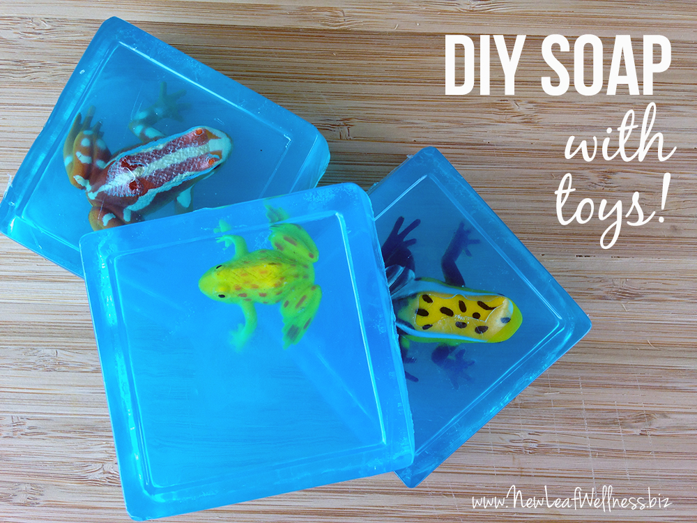 Homemade glycerin soaps with toys