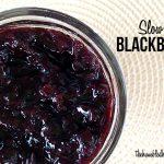 Slow cooker blackberry jam